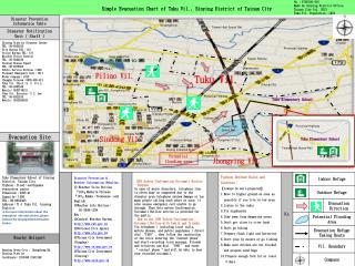 Simple Evacuation Chart of Tuku Vil., Sinying District of Tainan City