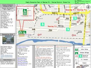 Simple Evacuation Chart of Nansing Vil., Sinying District, Tainan City