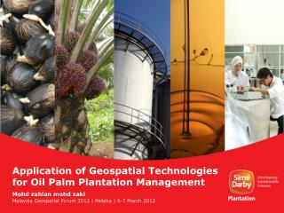 Application of Geospatial Technologies for Oil Palm Plantation Management