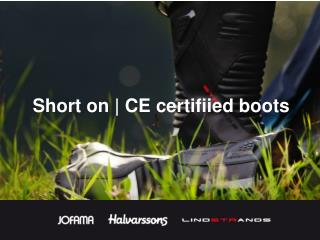 Short on |  CE  certifiied  boots