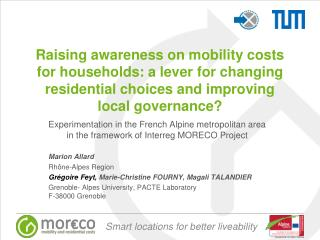 Experimentation in the French Alpine metropolitan area in the framework of Interreg MORECO Project