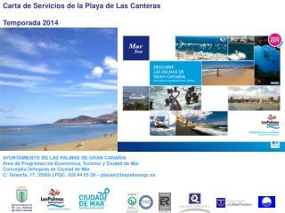 Carta de Servicios de la Playa de Las Canteras Temporada 2014