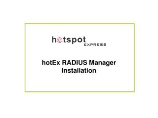 hotEx RADIUS Manager Installation
