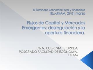 DRA. EUGENIA CORREA POSGRADO FACULTAD DE ECONOMÍA, UNAM