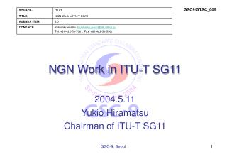 NGN Work in ITU-T SG11