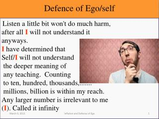 Defence of Ego/self