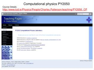 Computational physics  PY2050