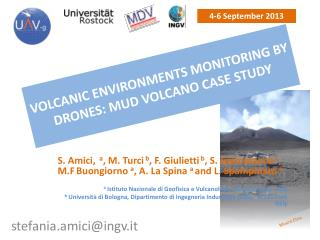 Volcanic environments monitoring by  drones:  mud volcano case  study