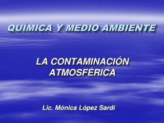 QU�MICA Y MEDIO AMBIENTE