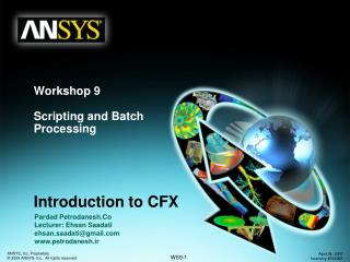 Workshop 9 Scripting and Batch Processing