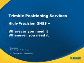 Trimble Positioning Services