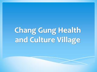 Chang Gung Health and Culture Village
