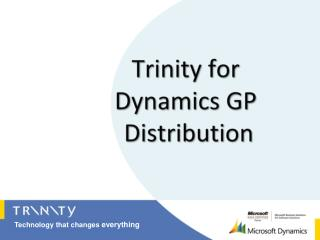 Trinity for  Dynamics GP  Distribution