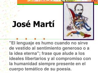 Jos é  Martí