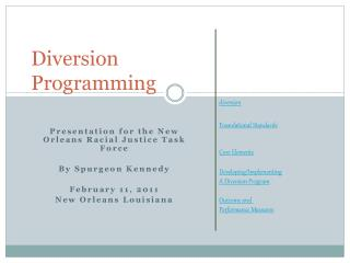 Diversion Programming