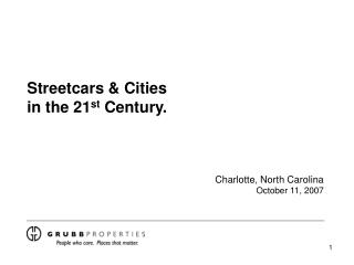 Streetcars & Cities in the 21 st  Century.