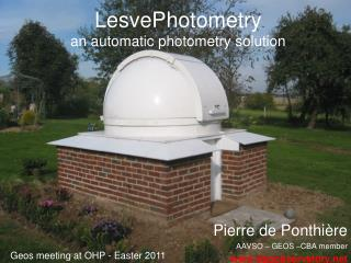 LesvePhotometry  an  automatic  photometry solution
