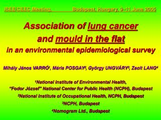 Association of  lung cancer  and  mould in the flat in an environmental epidemiological survey