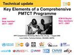 Key Elements of a Comprehensive PMTCT Programme