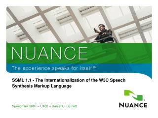 SSML 1.1 - The Internationalization of the W3C Speech Synthesis Markup Language