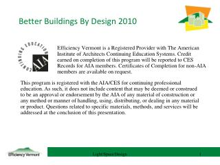 Better Buildings By Design 2010