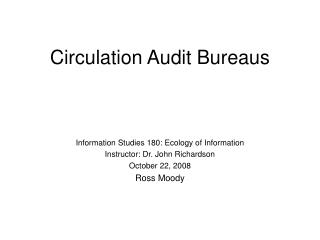Circulation Audit Bureaus