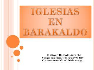 IGLESIAS  EN BARAKALDO