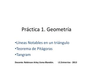 Práctica 1. Geometría