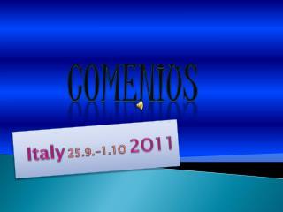 Italy 25.9.-1.1O  2O11