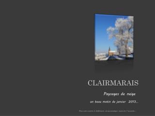 CLAIRMARAIS