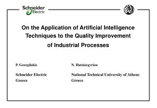 On the Application of Artificial Intelligence Techniques to the Quality Improvement