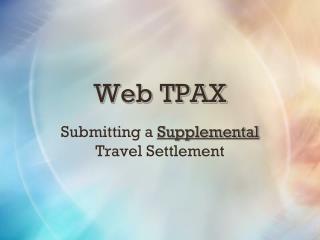 Web TPAX