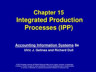 Chapter 15  Integrated Production Processes IPP
