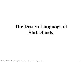 The Design Language of Statecharts