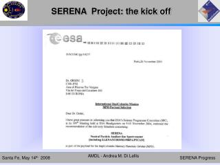 SERENA  Project: the kick off