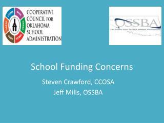 School Funding Concerns
