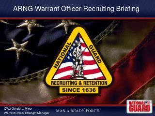 ARNG Warrant Officer Recruiting Briefing