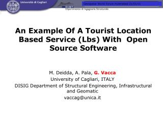 An Example Of A Tourist Location Based Service (Lbs) With  Open Source Software