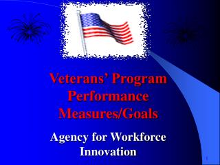 Veterans' Program Performance Measures/Goals Agency for Workforce Innovation