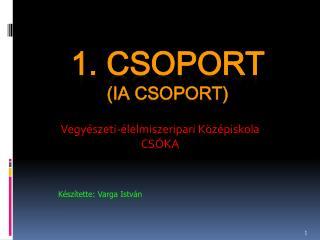 1. CSOPORT (ia CSOPORT)
