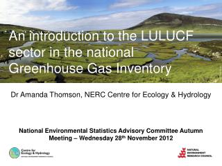 Dr Amanda Thomson, NERC Centre for Ecology & Hydrology