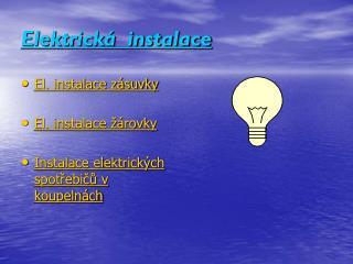 Elektrická  instalace