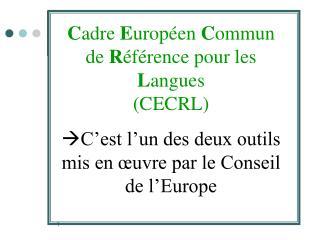 Les grands objectifs du Conseil de l Europe