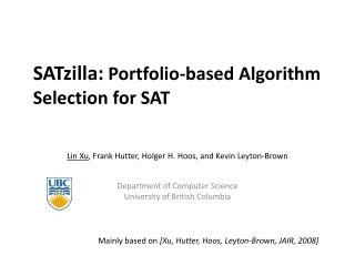 SATzilla:  Portfolio-based Algorithm Selection for SAT
