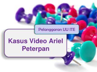 Kasus Video Ariel Peterpan