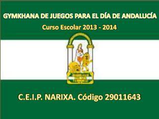 Curso Escolar 2013 - 2014