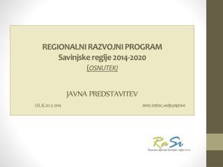 STRUKTURA RRP SAVINJSKE REGIJE  2014-2020