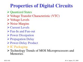 Properties of Digital Circuits