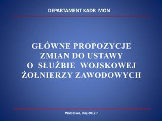 Warszawa, maj 2012 r.