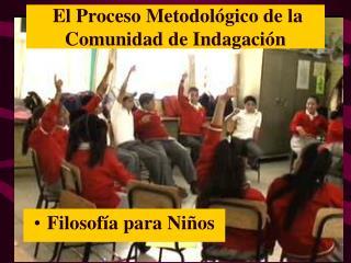 El Proceso Metodológico de la  Comunidad de Indagación